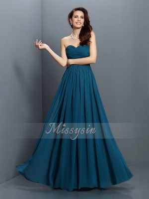 Sleeveless Sweetheart Satin Long Dark Green Bridesmaid Dresses