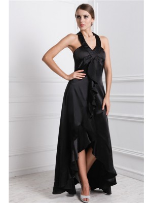 Sleeveless Bateau Asymmetrical Black Dresses