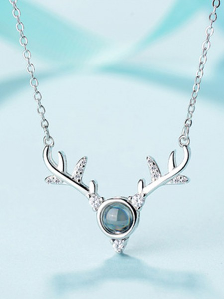 Hot Sale S925 Silver With Antler Necklaces