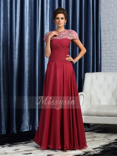 Sleeveless Sweetheart Chiffon Long Burgundy Mother of the Bride Dresses