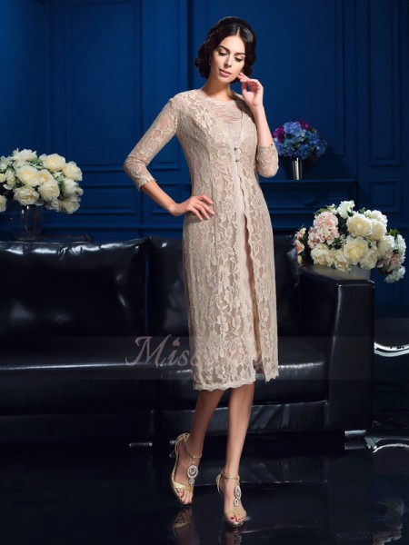 Sheath/Column Sleeveless Scoop Short Ivory Mother of the Bride Dresses