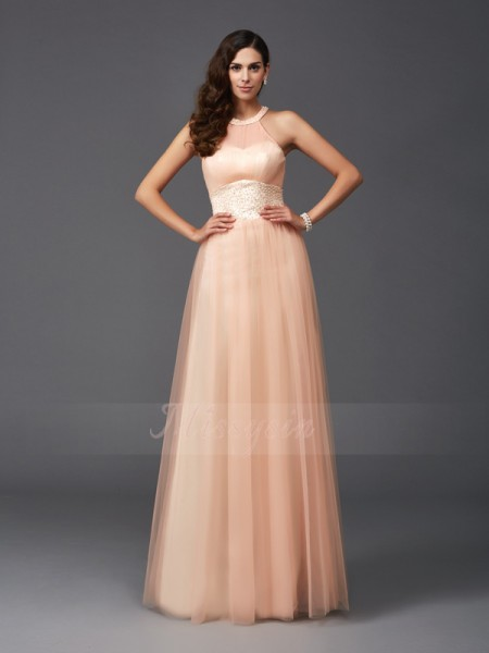 A-Line/Princess Sleeveless Halter Long Other dresses