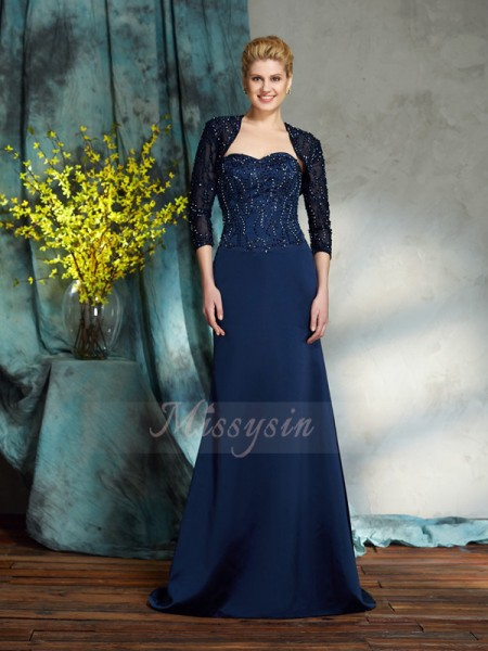 Sheath/Column Sleeveless Sweetheart Long Other Mother of the Bride Dresses