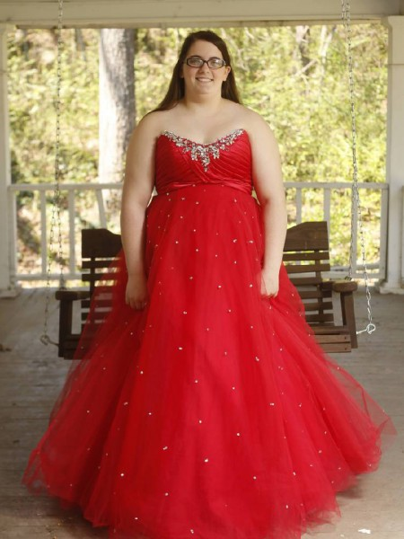 Sleeveless Sweetheart Long Plus Size Red Dresses