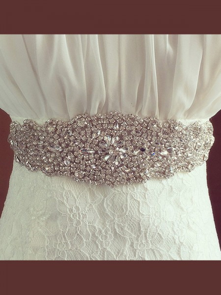 Bridal Wedding Sash Crystal Rhinestone Ribbon