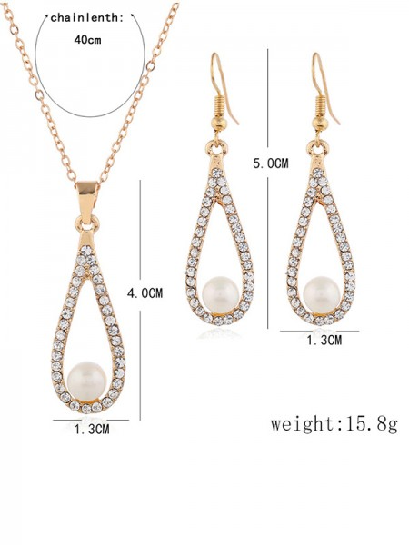 Bridal Luxurious Alloy Wedding Necklaces