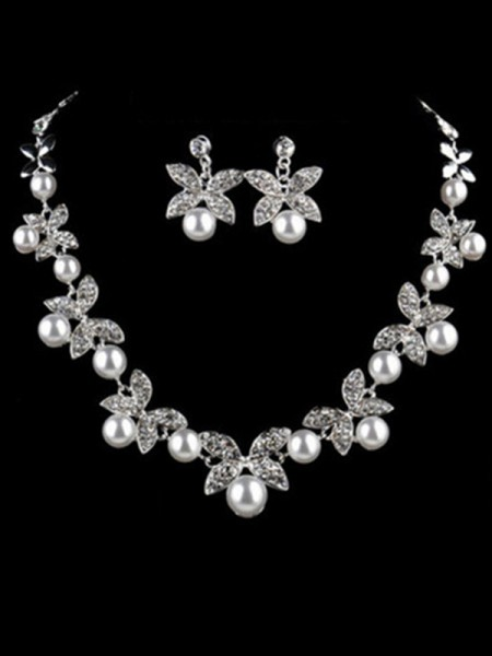 Charming Alloy With Pearl Jewelry Set For Women