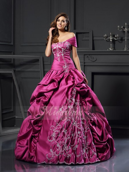 Ball Gown Sleeveless Sweetheart Satin Long Regency Dresses