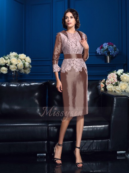 Sheath/Column Short Sleeves Jewel Short Other Mother of the Bride Dresses