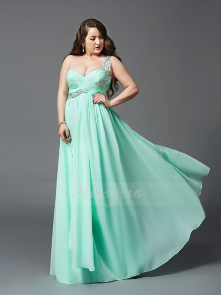 A-Line/Princess Sleeveless One-Shoulder Long Other Dresses