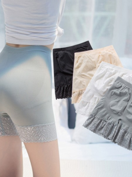 Nylon Lace Women's Elastic Safety Pants/Safety Shorts