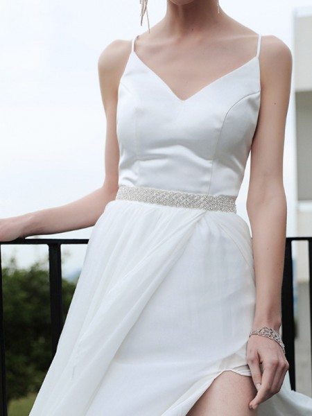 Wedding Sashes Dress Waist Belt With Crystals