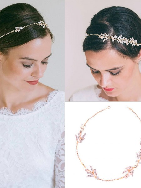 Graceful Czech Alloy Wedding Headpieces